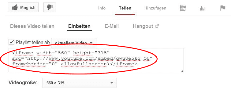 Screenshot: Video-SEO auf YouTube
