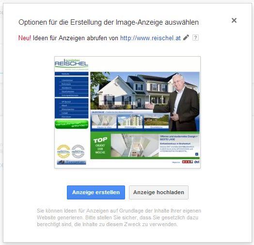 Image-Anzeigen in AdWords erstellen
