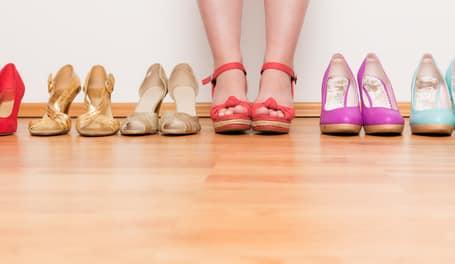 Schuhe für die Remarketing mit AdWords gemacht wird