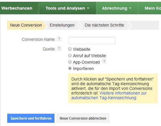 Offline Conversion Tracking bei Google AdWords