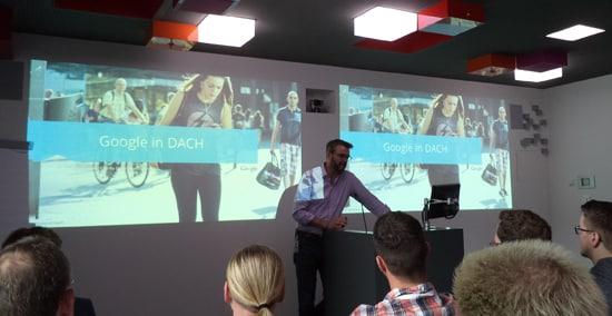 Lars Lehne eröffnet AdWords Community Summit 2014