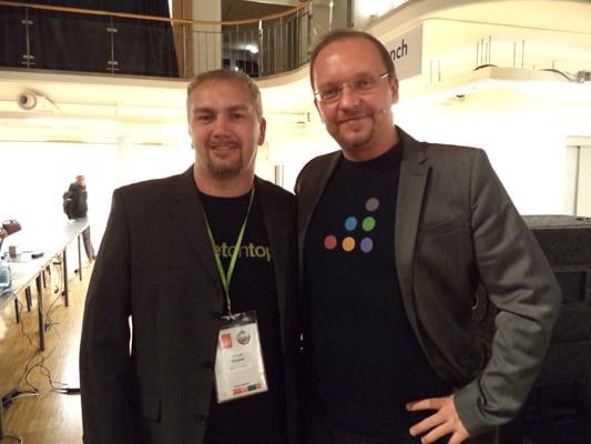 Die OMX und SEOkomm Organisatoren: Oliver Hauser und Christoph C. Cemper