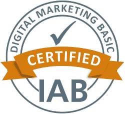 IAB-Siegel für den Lehrgang Digital Marketing Basic