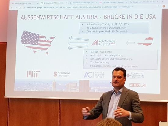 Michael Friedl, Wirtschaftsdelegierter der Aussenwirtschaft Austria in New York
