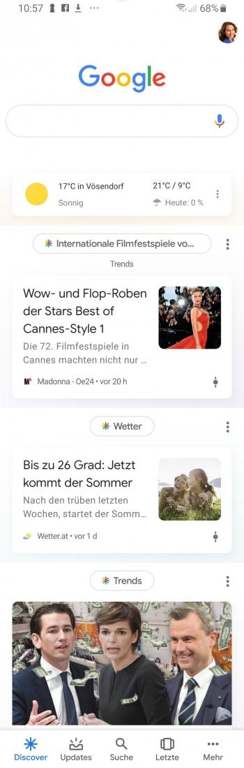 Google Discover Feed - Screenshot