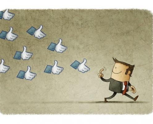 Likes folgen dem Influencer